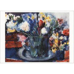 ansichtkaart - kees verwey - stilleven met bloemen