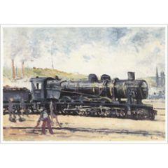 ansichtkaart - maximilien luce - la locomotive