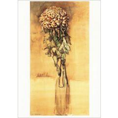 ansichtkaart - piet mondriaan - chrysant