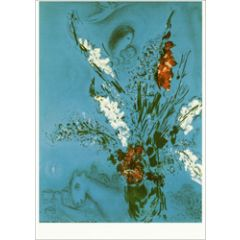 ansichtkaart - marc chagall - compositie met bloemen