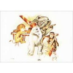 ansichtkaart - gh grijseels-visser - olifant viool vleugel