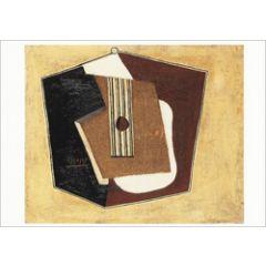 ansichtkaart - pablo picasso - gitaar