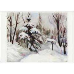 ansichtkaart edvard munch - winterbos