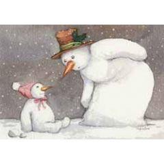 ansichtkaart capucine mazille - sneeuwbaby - sneeuwpoppen