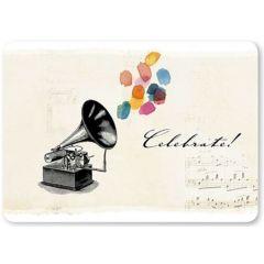 ansichtkaart susi winter - celebrate - muziek