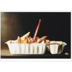 ansichtkaart - tjalf sparnaay - patat met mayonaise