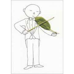ansichtkaart cintascotch - violeaf - viool muziek