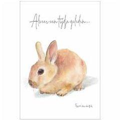 ansichtkaart fantasiebeestjes - alweer een tijdje geleden... - konijn