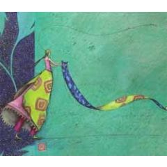 ansichtkaart met envelop - gaelle boissonnard - met lint