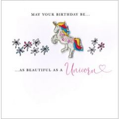wenskaart second nature - may your birthday be as beautiful as a unicorn - eenhoorn