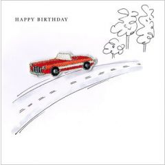 wenskaart second nature - happy birthday - auto