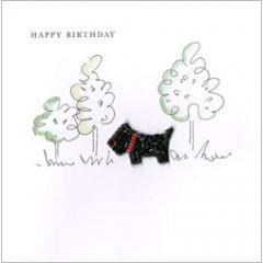 wenskaart second nature - happy birthday - hondje