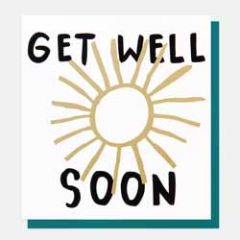 beterschapskaart caroline gardner - get well soon - zon