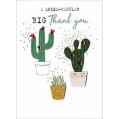 bedankkaart - a spike-tacular big thank you - cactus