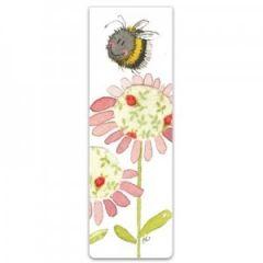 magnetische boekenlegger - alex clark - bij op bloem