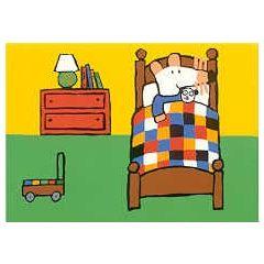 ansichtkaart - muis - in bed