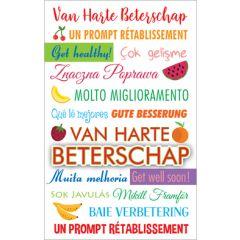beterschapskaart - van harte beterschap in veel talen