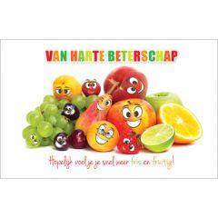 beterschapskaart - hopelijk voel je je snel weer fris en fruitig