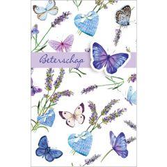 beterschapskaart - beterschap - vlinders