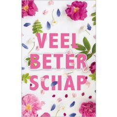 beterschapskaart - veel beterschap - bloemen roze