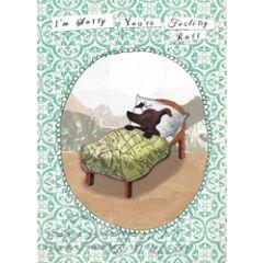 beterschapkaart mia hague - i am sorry you are feeling ruff - zieke hond