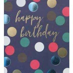 verjaardagskaart caroline gardner spot on - happy birthday - donkerblauw