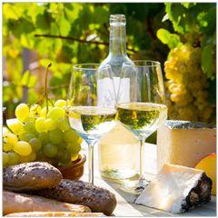 wenskaart rapture - wijn en stokbrood