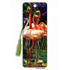 3D lenticulaire boekenlegger - flamingo