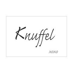 wenskaart - knuffel xoxo - zwart-wit