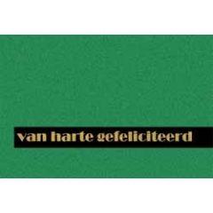 felicitatiekaart - van harte gefeliciteerd - groen