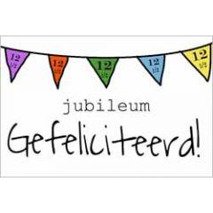 12,5 jaar - jubileum wenskaart - gefeliciteerd - vlaggetjes