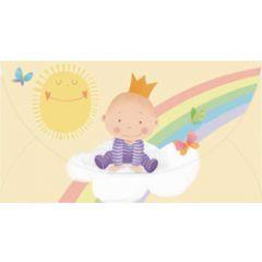 cadeau-envelop geboorte- busquets - jongetje op wolk