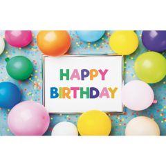 cadeau envelop - happy birthday - ballonnen