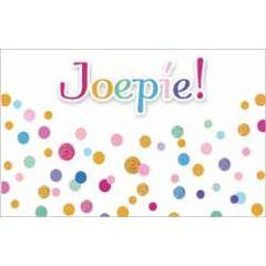 cadeau envelop - joepie - stippen