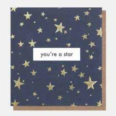 wenskaart caroline gardner - you're a star - sterren