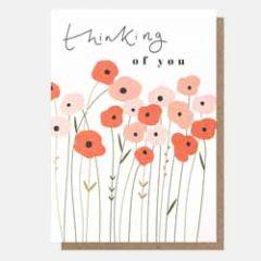 wenskaart caroline gardner - thinking of you - bloemen