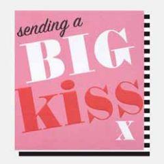 wenskaart caroline gardner - sending a big kiss x