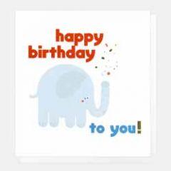 wenskaart caroline gardner - happy birthday to you - olifant