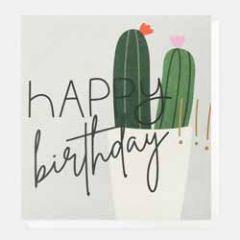 wenskaart caroline gardner - happy birthday - cactussen