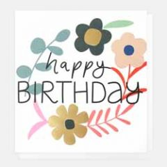 wenskaart caroline gardner - happy birthday - bloemen