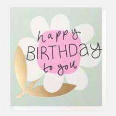 wenskaart caroline gardner - happy birthday to you - bloem