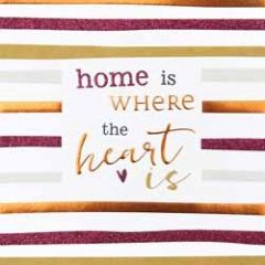 wenskaart caroline gardner - hip hip - home is where the heart is
