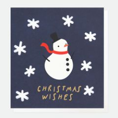 kerstkaart caroline gardner - christmas wishes - sneeuwpop