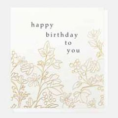 verjaardagskaart caroline gardner - happy birthday to you - bloemen