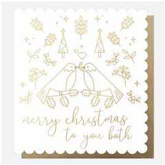 grote kerstkaart caroline gardner- merry christmas to you both   muller wenskaarten