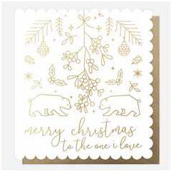 grote kerstkaart caroline gardner- merry christmas to the one i love   muller wenskaarten