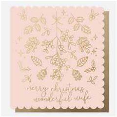 grote kerstkaart caroline gardner- merry christmas wonderful wife   muller wenskaarten