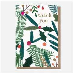 10 kerstkaartjes caroline gardner - thank you | muller wenskaarten