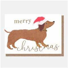 10 kerstkaartjes caroline gardner - merry christmas - teckel | muller wenskaarten
