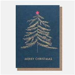 10 kerstkaartjes caroline gardner - merry christmas - kerstboom | muller wenskaarten